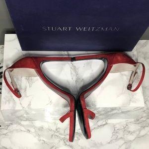 Stuart Weitzman Shoes - Stuart Weitzman Nudist Suede Ankle Sandle